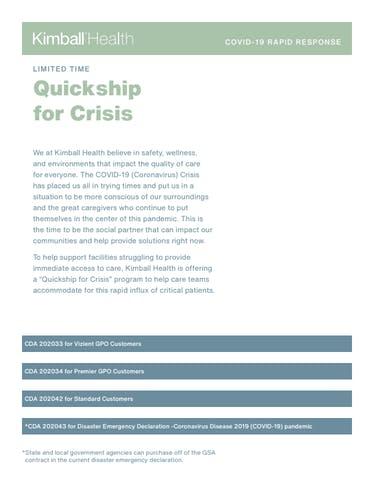 QUICKSHIP FOR CRISIS PDF